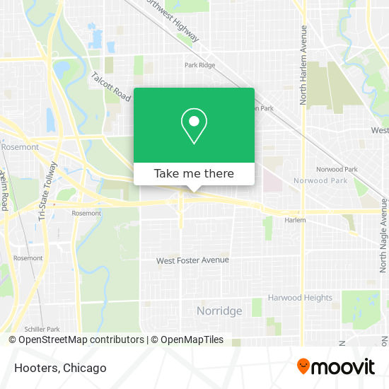 Hooters map