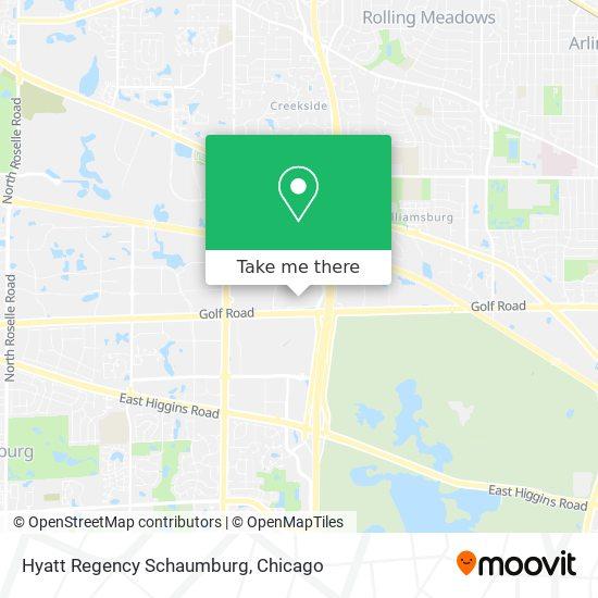 Hyatt Regency Schaumburg map