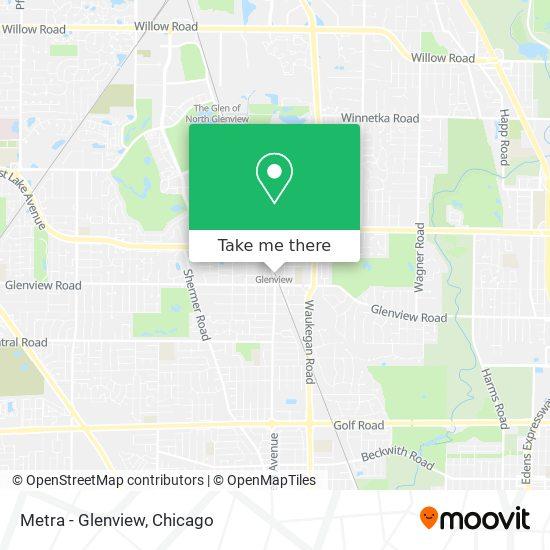 Metra - Glenview map