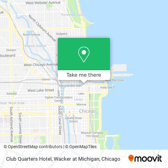 Club Quarters Hotel, Wacker at Michigan plan