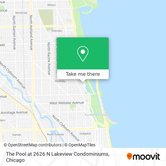 The Pool at 2626 N Lakeview Condominiums map