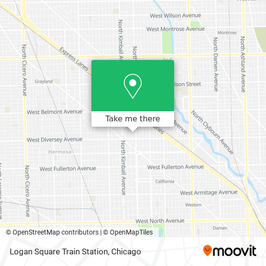 Logan Square Train Station map