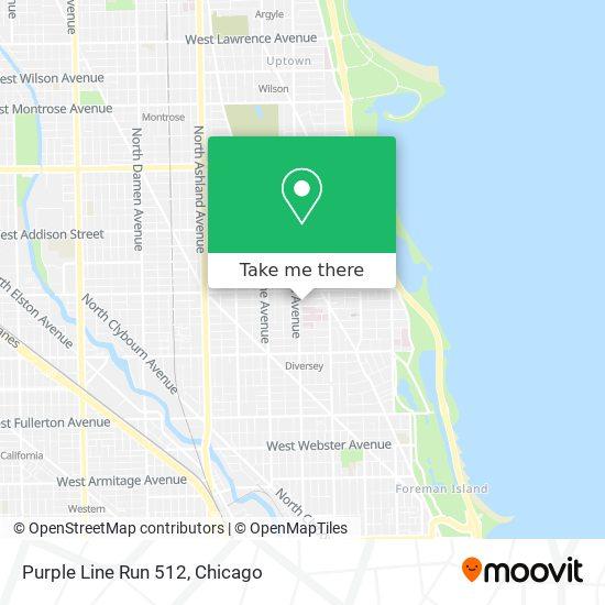 Purple Line Run 512 map