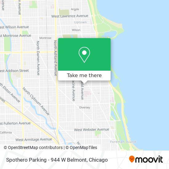 Spothero Parking - 944 W Belmont map