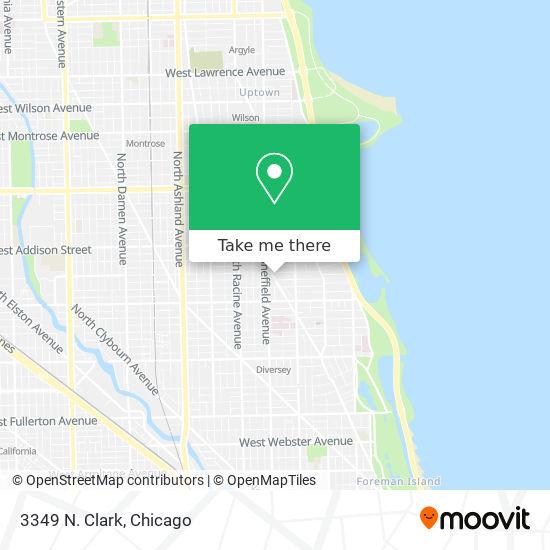 3349 N. Clark map