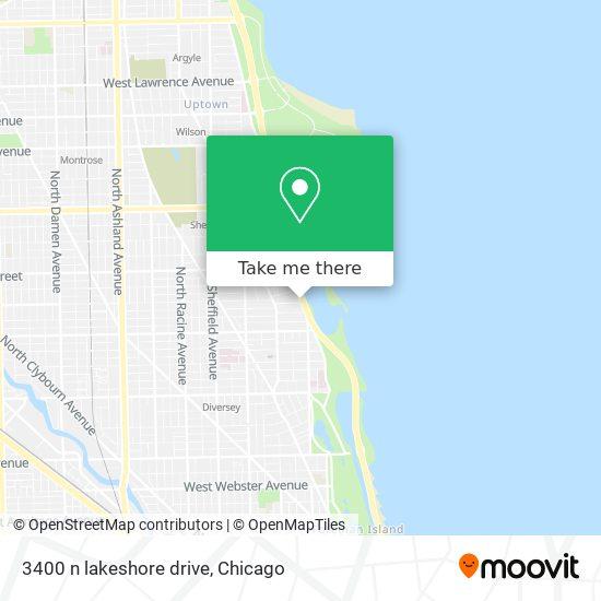 3400 n lakeshore drive map