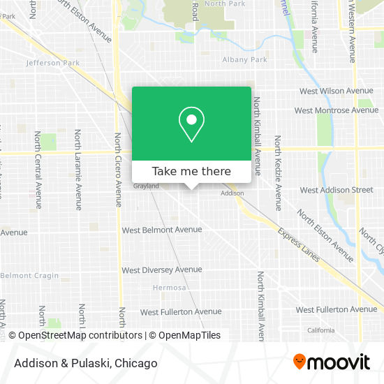 Addison & Pulaski map
