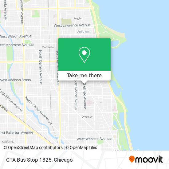 CTA Bus Stop 1825 map