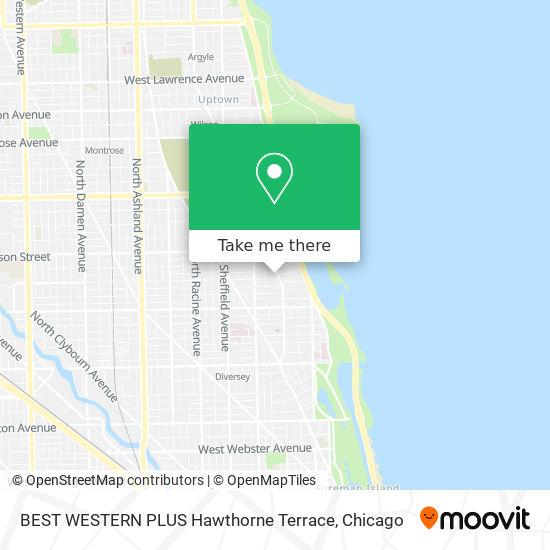 BEST WESTERN PLUS Hawthorne Terrace map