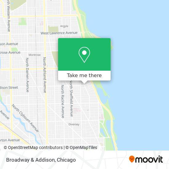 Broadway & Addison map