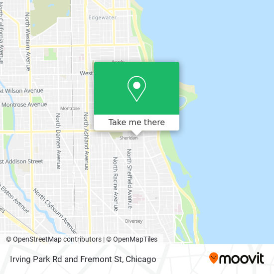 Irving Park Rd and Fremont St map