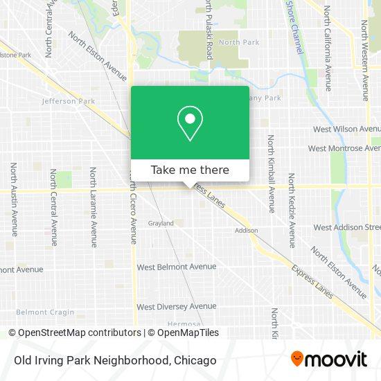 Old Irving Park Neighborhood map