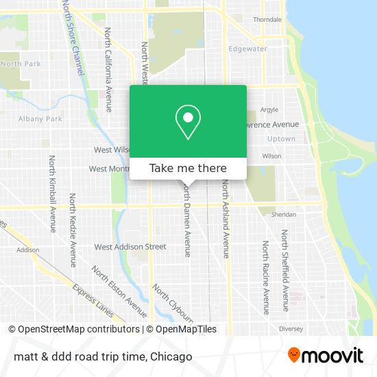 matt & ddd road trip time map