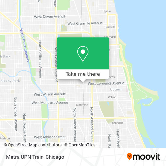 Metra UPN Train map