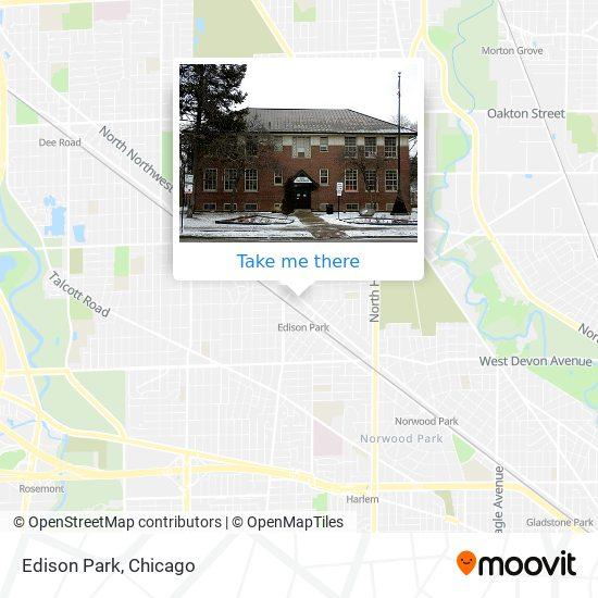 Edison Park map