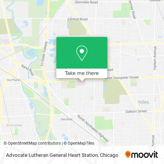 Advocate Lutheran General Heart Station map