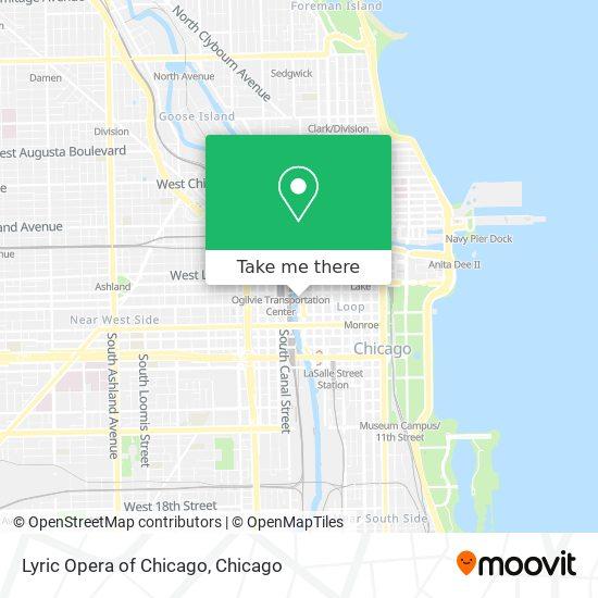 Lyric Opera of Chicago map
