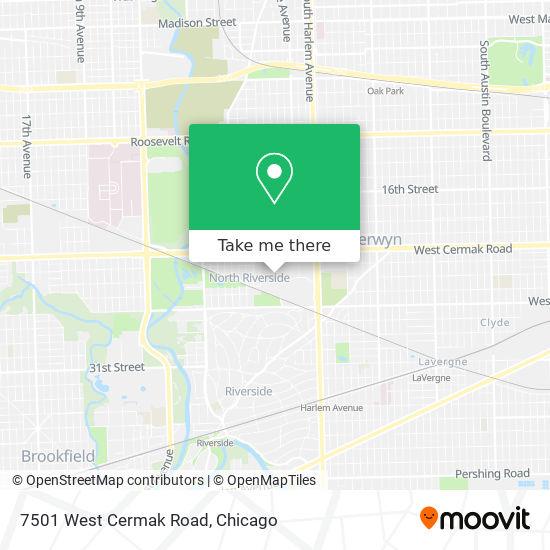 7501 West Cermak Road map