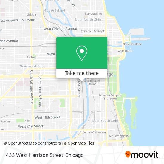 433 West Harrison Street map