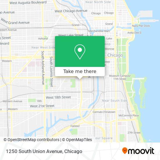 1250 South Union Avenue map