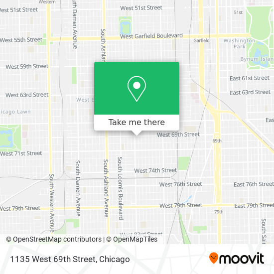 1135 West 69th Street map