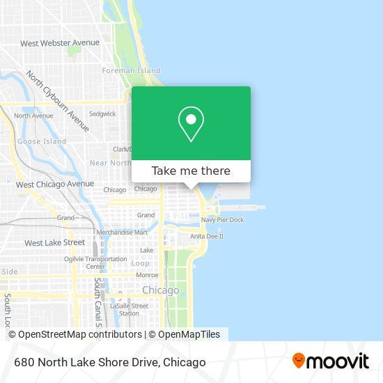 680 North Lake Shore Drive map