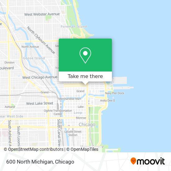 600 North Michigan map