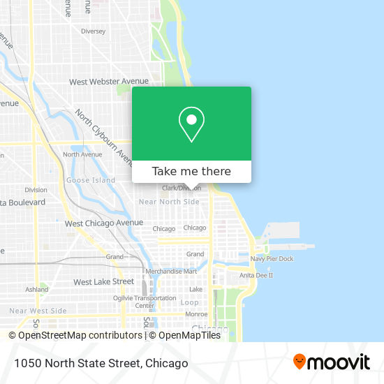 1050 North State Street map