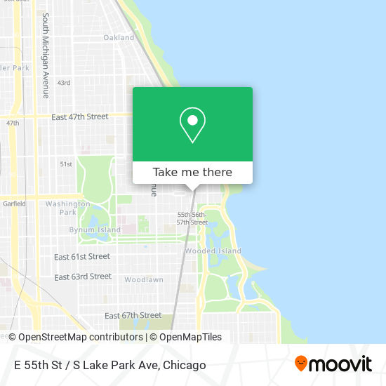 E 55th St / S Lake Park Ave map