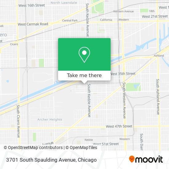3701 South Spaulding Avenue map