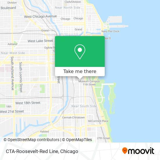 CTA-Roosevelt-Red Line map