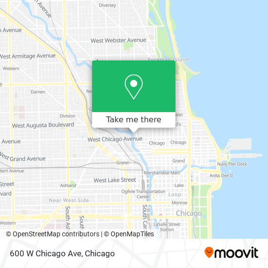 600 W Chicago Ave map