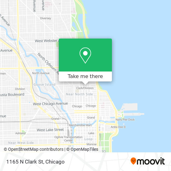 1165 N Clark St map
