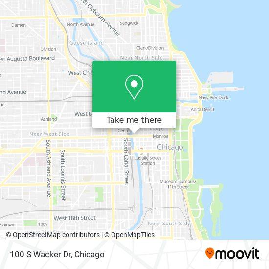 100 S Wacker Dr map