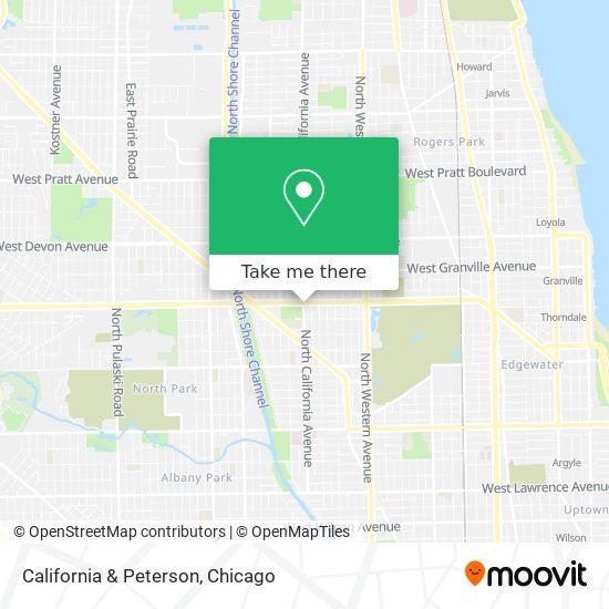 California & Peterson map