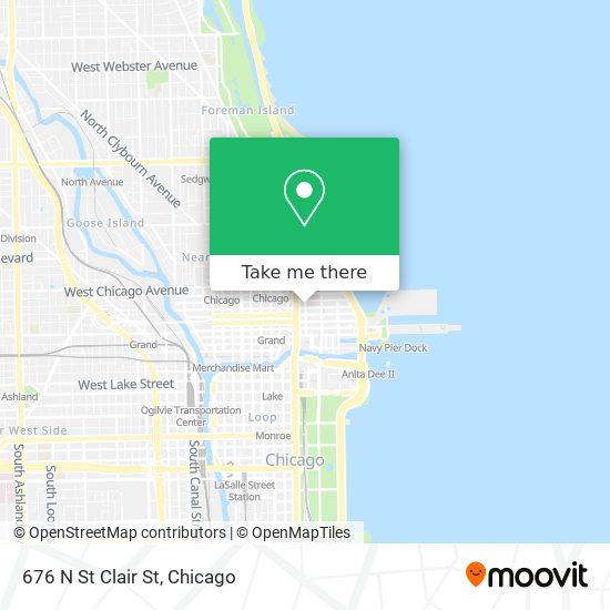 676 N St Clair St map