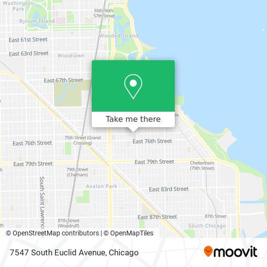 7547 South Euclid Avenue map