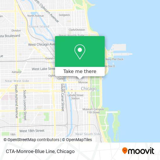 CTA-Monroe-Blue Line map
