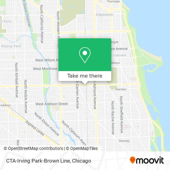 CTA-Irving Park-Brown Line map
