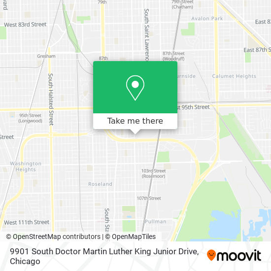 9901 South Doctor Martin Luther King Junior Drive map
