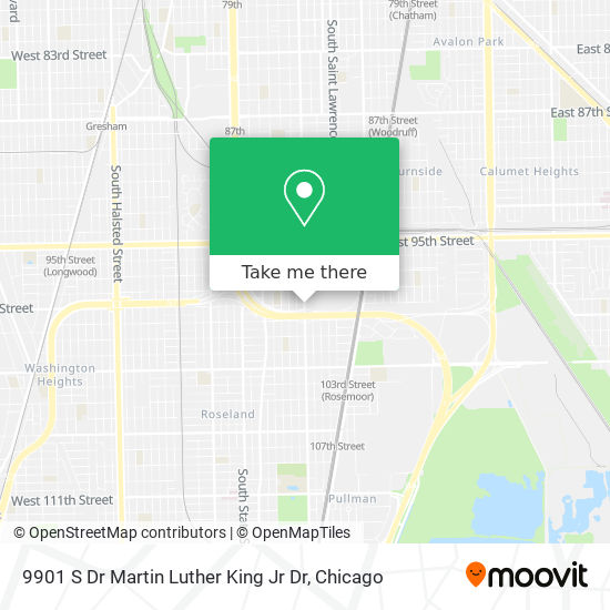 9901 S Dr Martin Luther King Jr Dr map