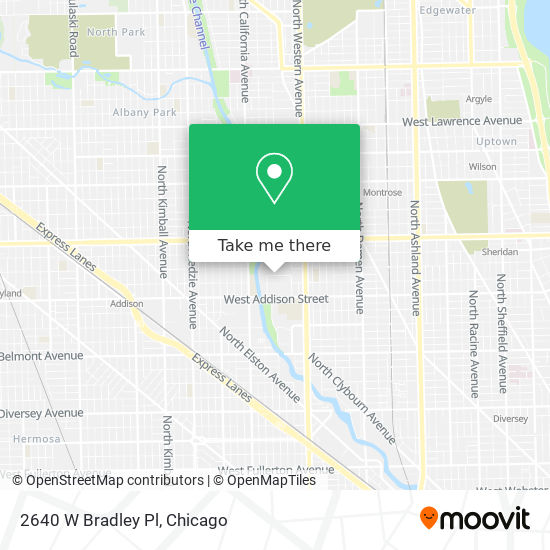 2640 W Bradley Pl map