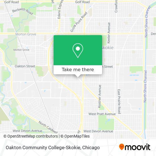Oakton Community College-Skokie map