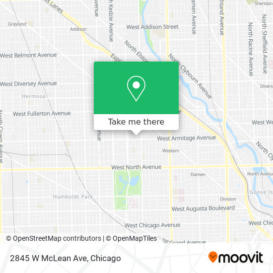 2845 W McLean Ave map