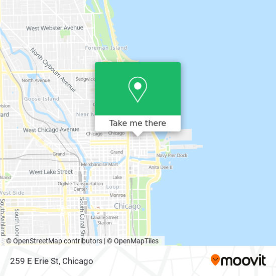 259 E Erie St map