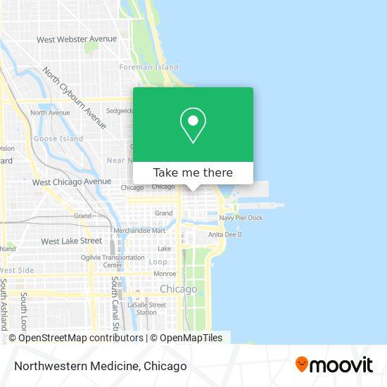 Northwestern Medicine map