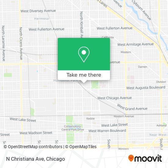 N Christiana Ave map