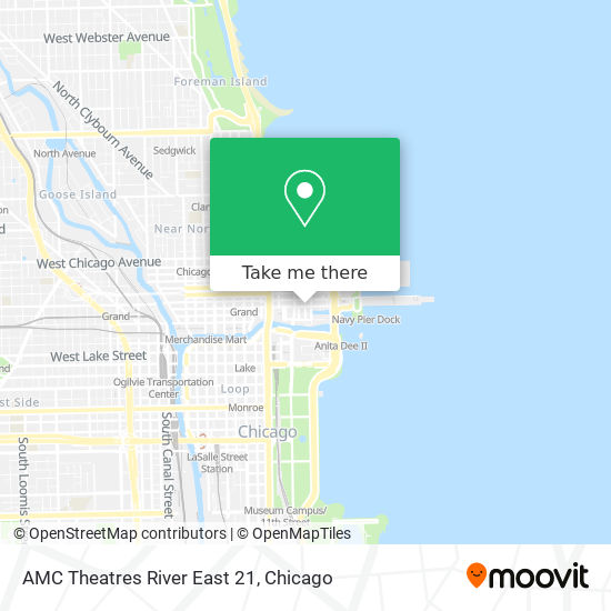AMC Theatres River East 21 map