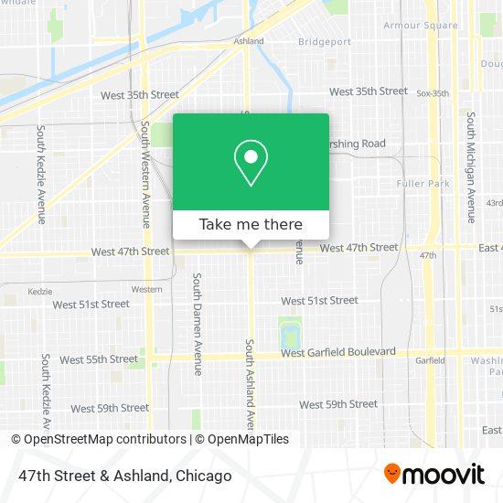 47th Street & Ashland map