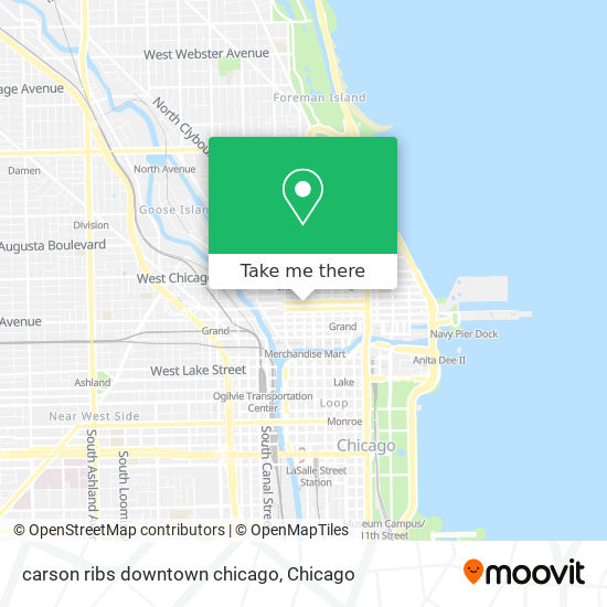 carson ribs downtown chicago map